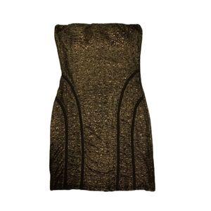 BENEFIT Strapless Sexy Metallic Bodycon Dress!
